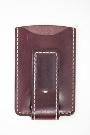 Magnetic Hargrave Card Wallet : Burgundy
