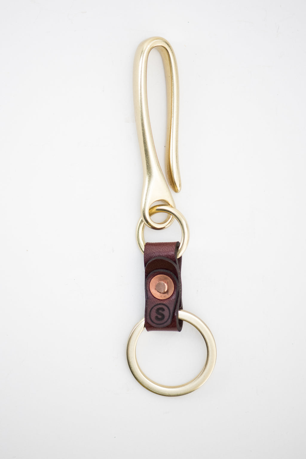 Fish Hook Key Chain : Burgundy