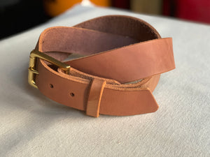 Lewis Trouser Strap : Brown/  Brass : Size 38