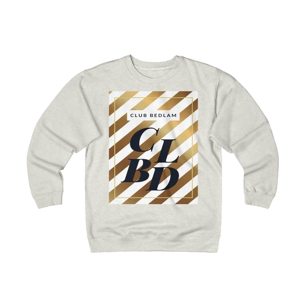 Club Bedlam Gold Stripe Heavyweight Fleece Crew