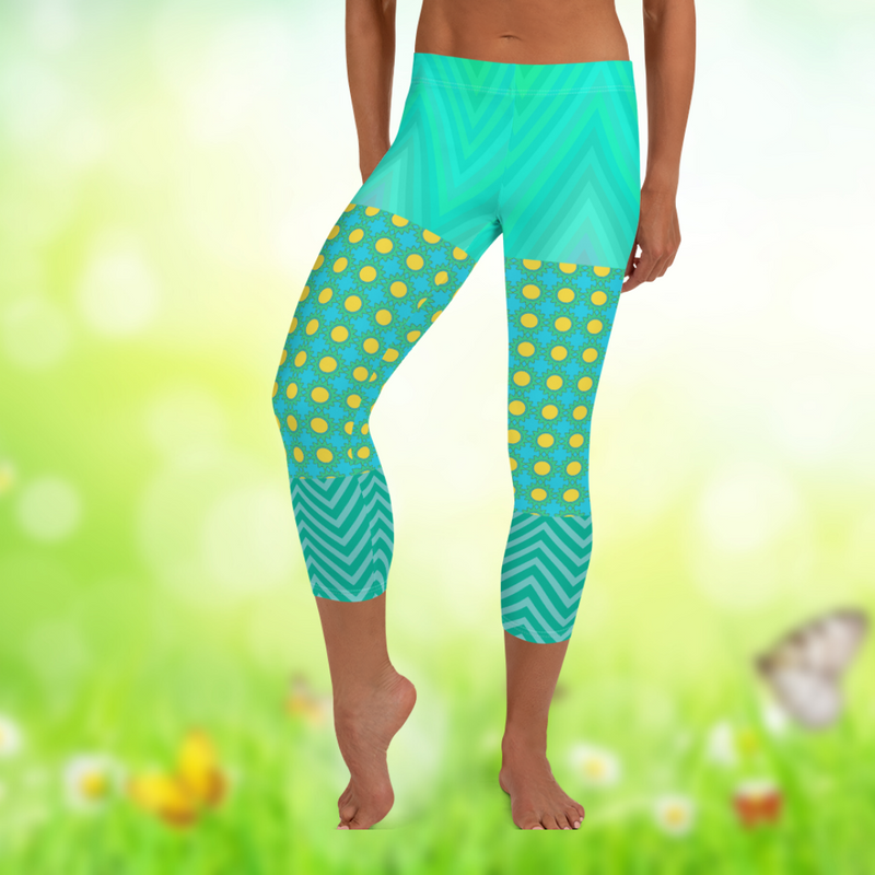 Green Bayou Capri Leggings