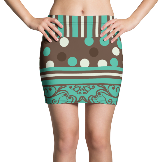Jadeira Bubble Active Mini Skirt