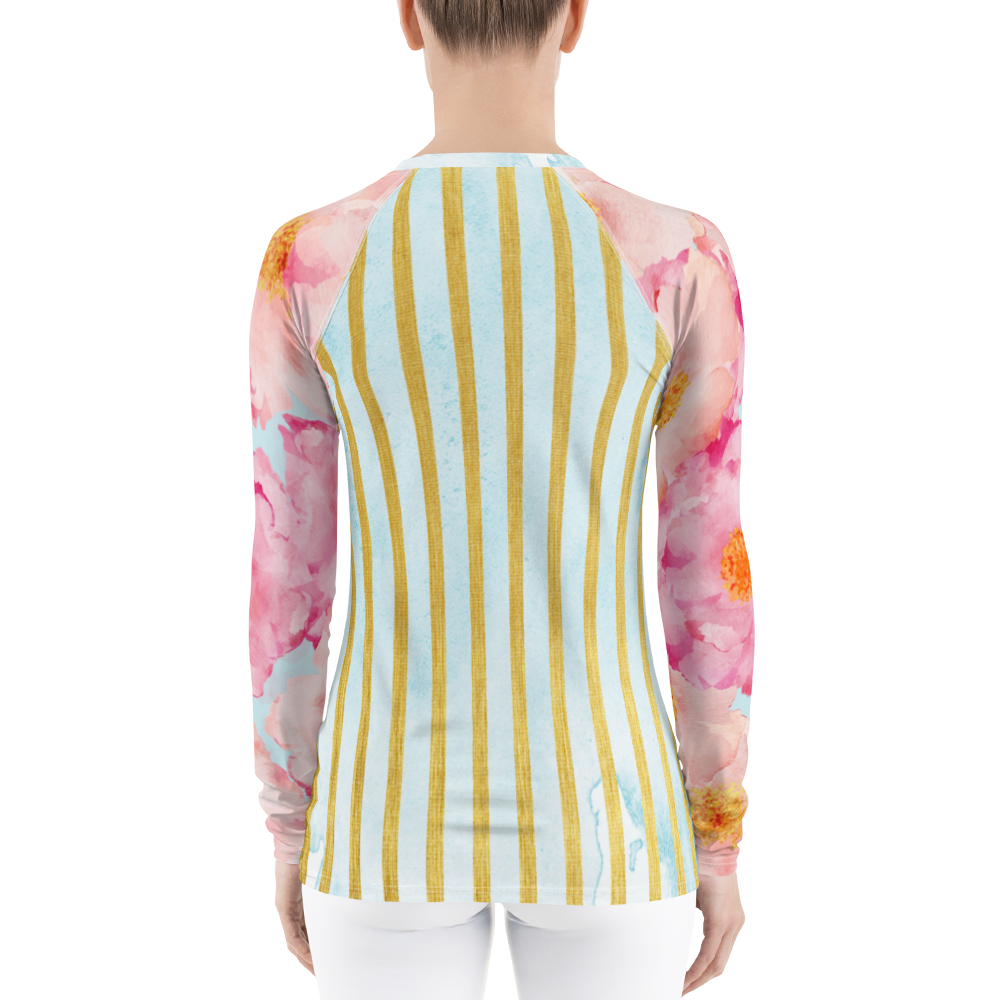 Golden Posie Floral Rash Guard