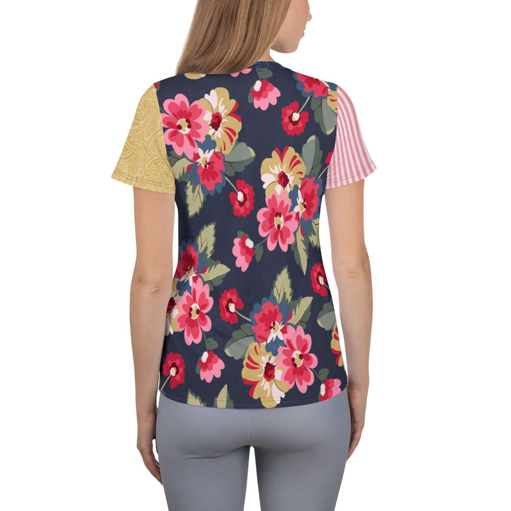 Country Rose Jacquard Athletic Top