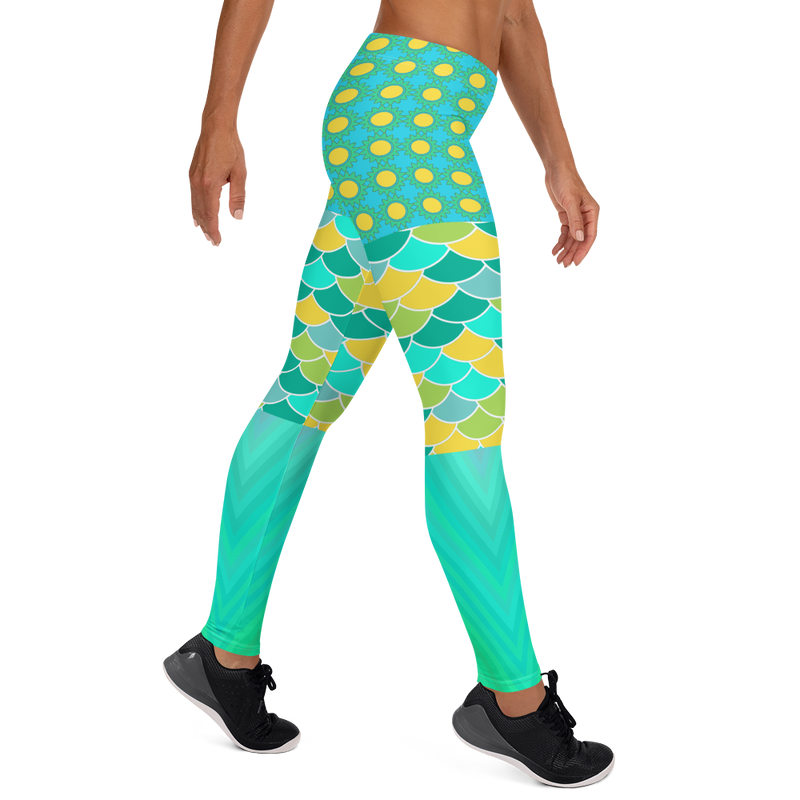 Green Bayou Leggings