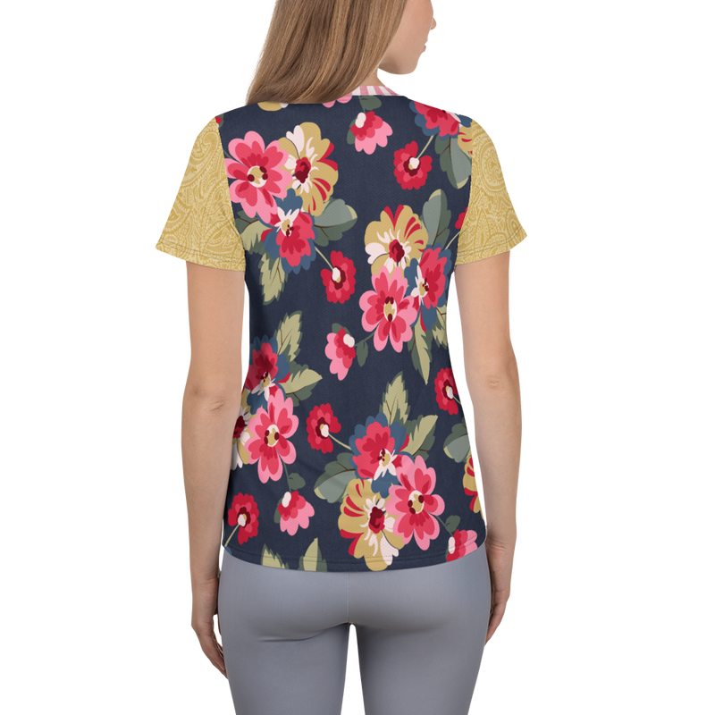 Country Rose Stripe Athletic Top