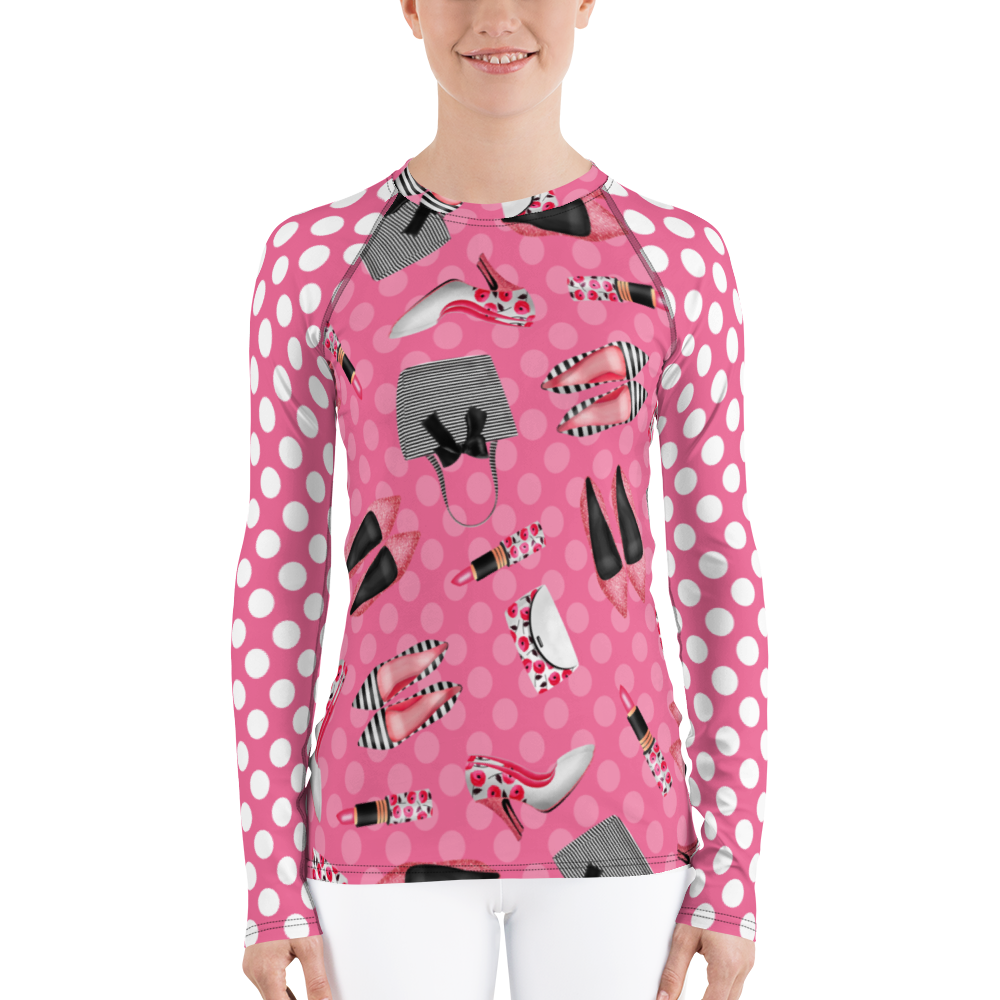 Glamour Girl Pink Rash Guard