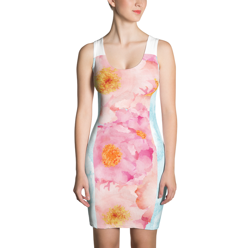 Golden Posie Paradiso Sports Dress/Beach Coverup