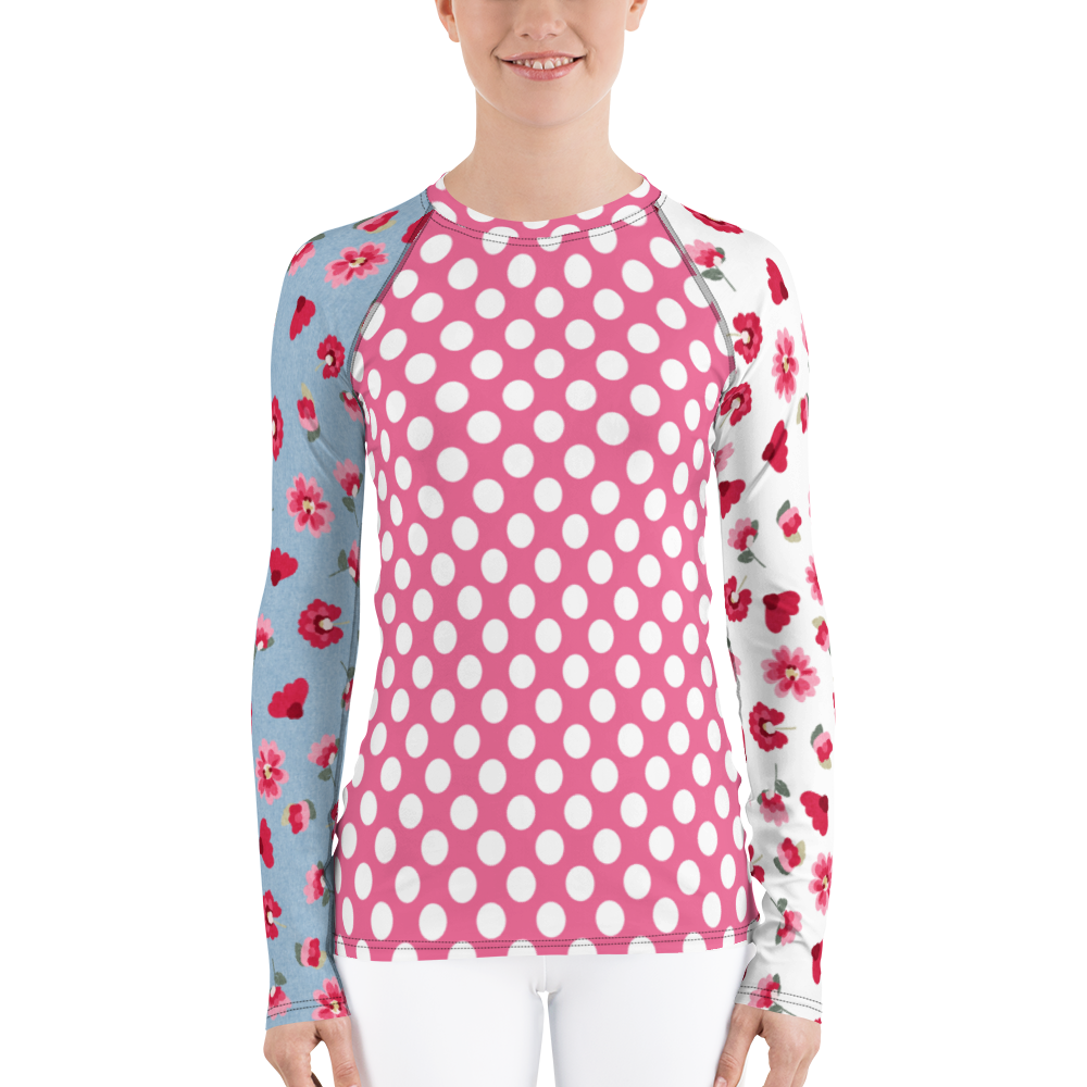 Bubbly Dot Rash Guard