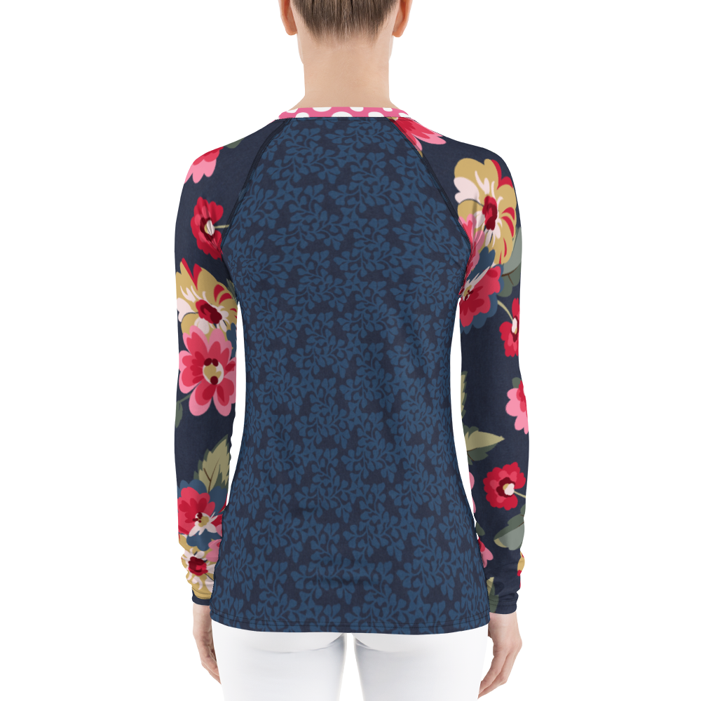 Country Rose Jacquard Rash Guard