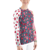 Bubbly Floral Stripe Rash Guard