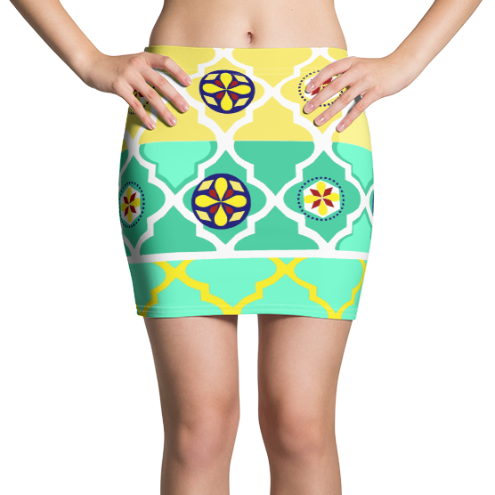 Neon Lights Bright Active Mini Skirt
