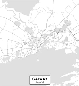 Galway Ireland Map Decal Wander Willow