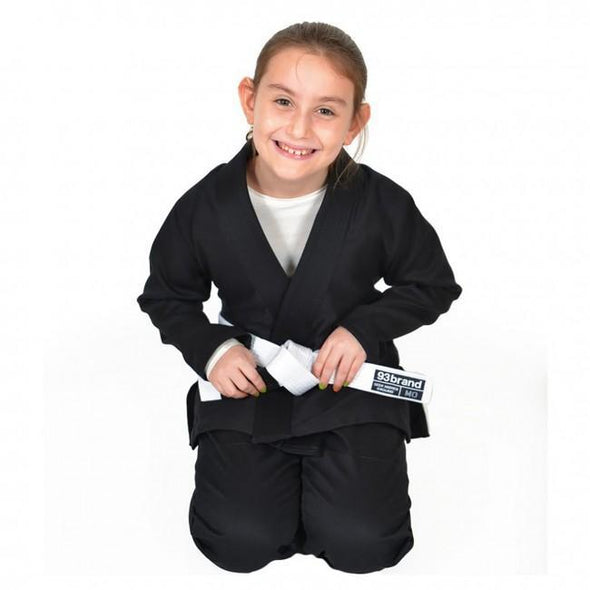 93 Brand Youth BJJ Gi - Black