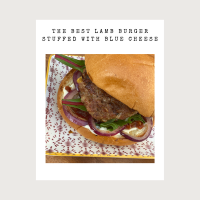 SUNDAY BRUNCH - THE BEST LAMB BURGERS STUFFED WITH BLUE CHEESE