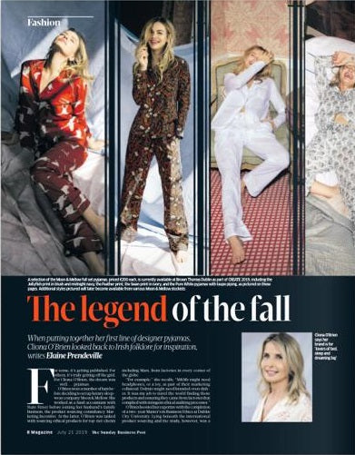 THE LEGENDS OF THE FALL - SUNDAY BUSINESS POST