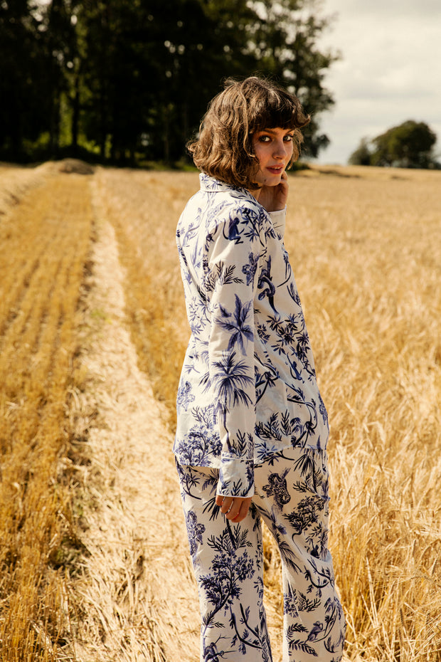 THE LONG SET - JUNGLE - 100% COTTON PYJAMAS