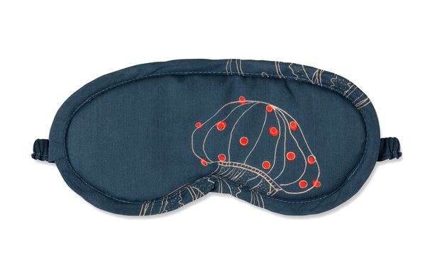 Moon and Mellow Jellyfish Midnight Eye Mask