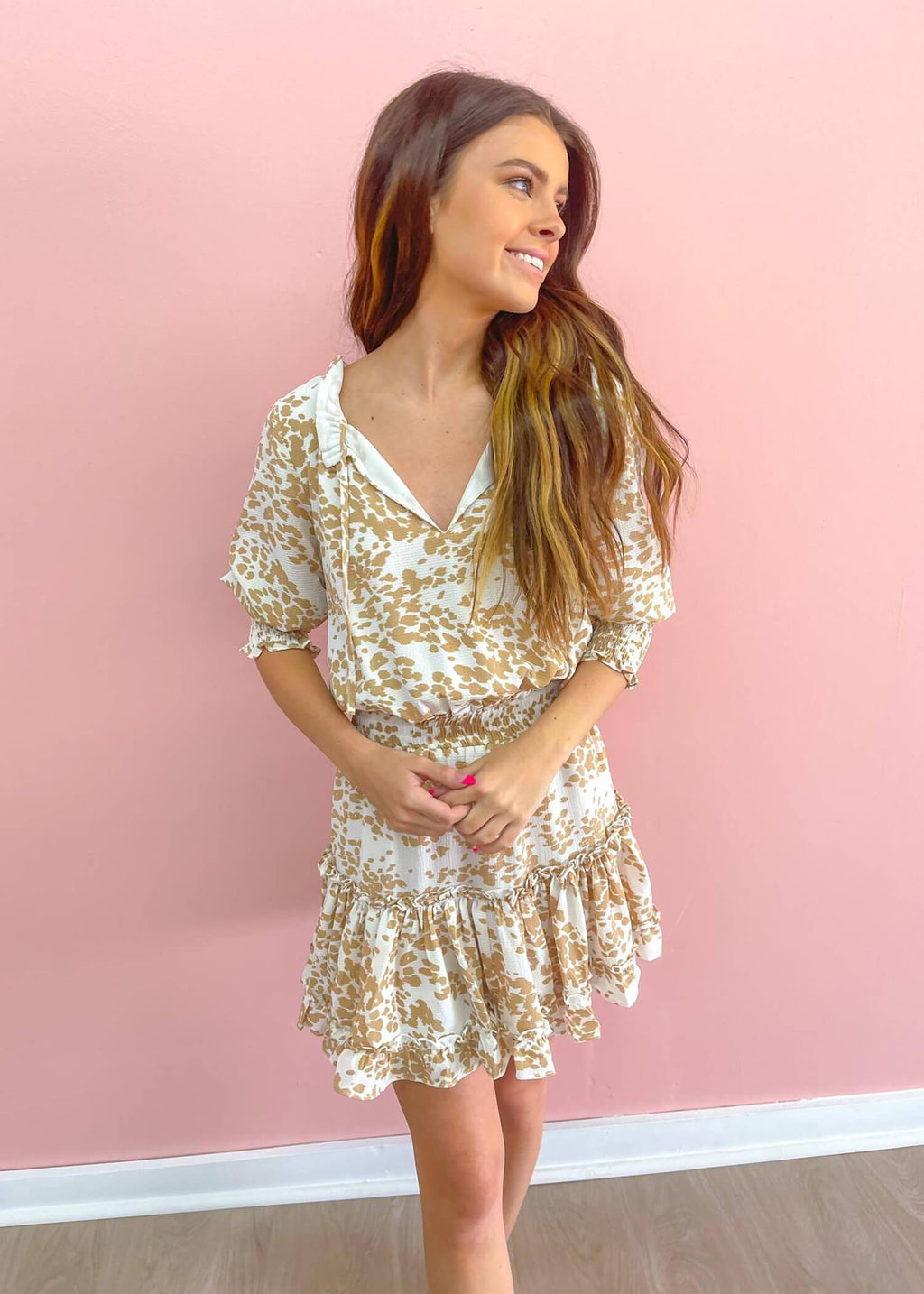 BuddyLove Bronx Mini Dress - Cowhide