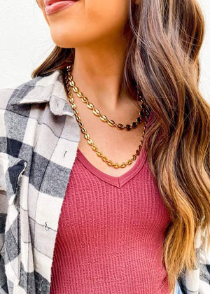 Ira Layered Necklace - Gold