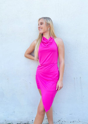 Ready For You Cocktail Dress - Fuchsia