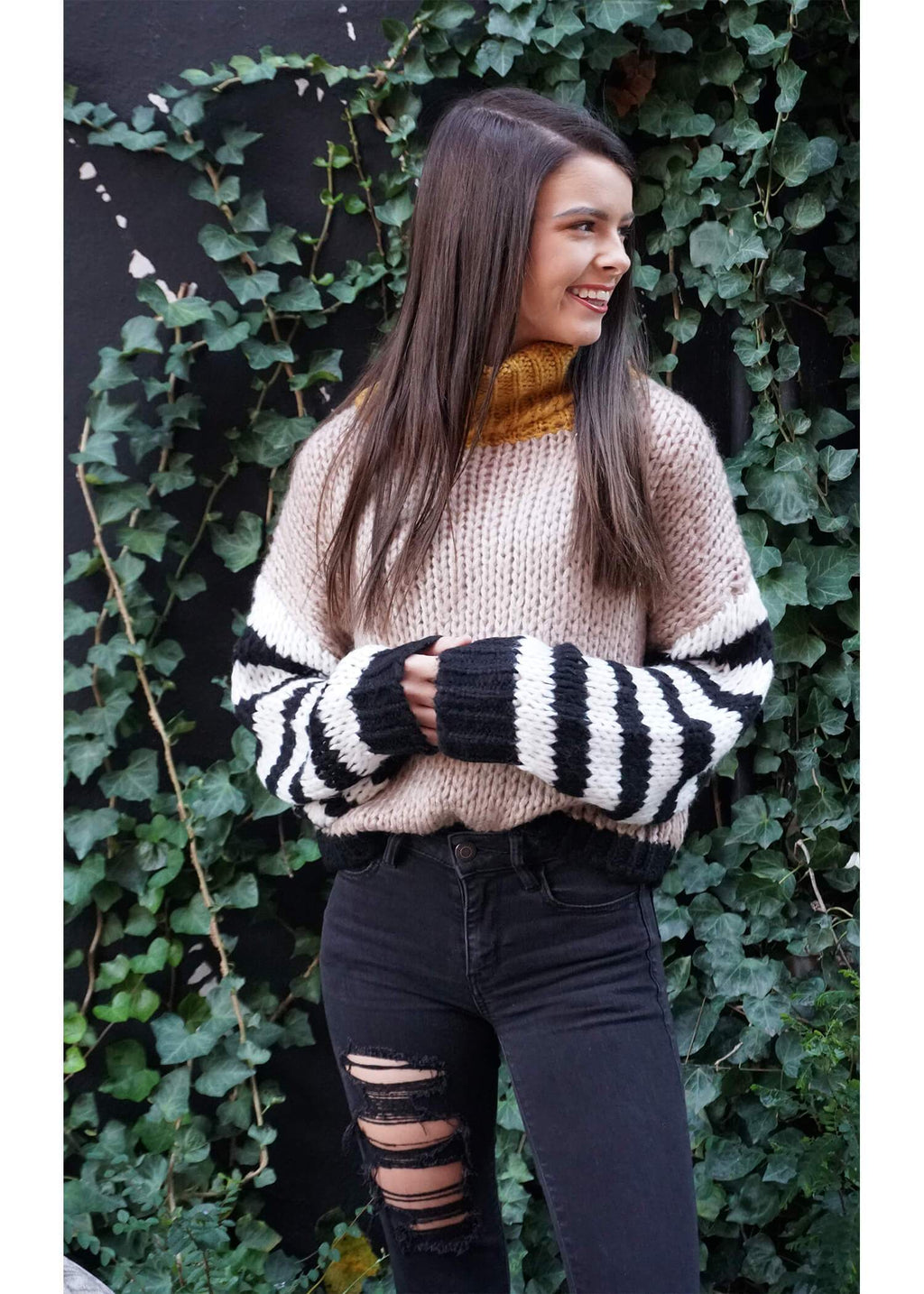 Find a Way Color-Block Sweater