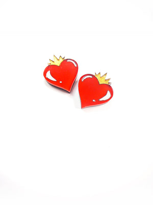 pendientes LOVE IS KING