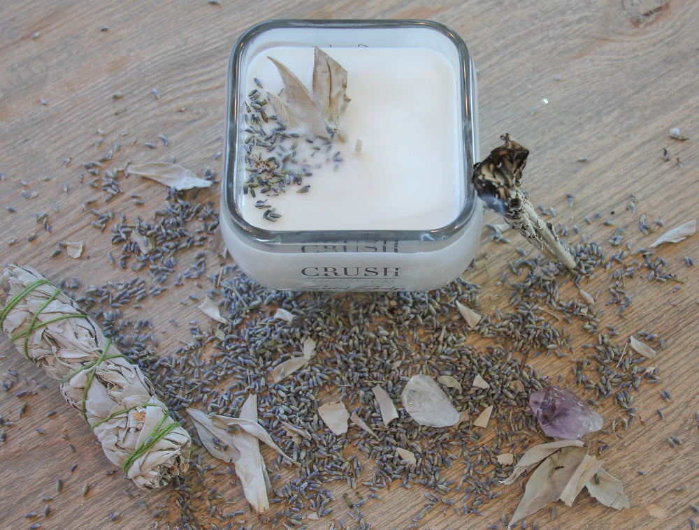 Sacred Smudge Soy Candles - Energy clearing - Featuring White Sage & Lavender