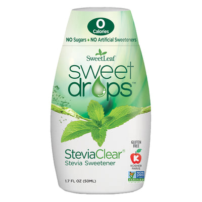 Sweet Drops Liquid Stevia Sweetener, SteviaClear (1.7 Ounce)