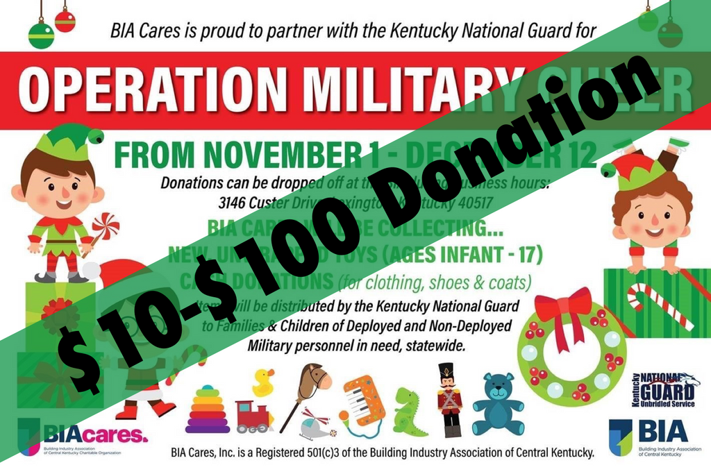 DONATE - OPERATION MILITARY CHEER $10-$100