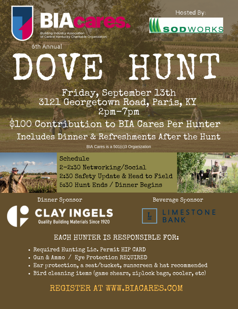 BIA Cares Dove Hunt