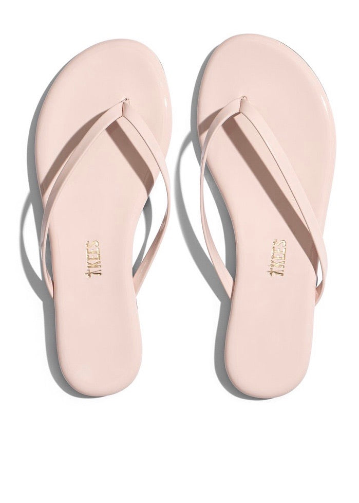 Lily Gloss Whipped Cream flip flops