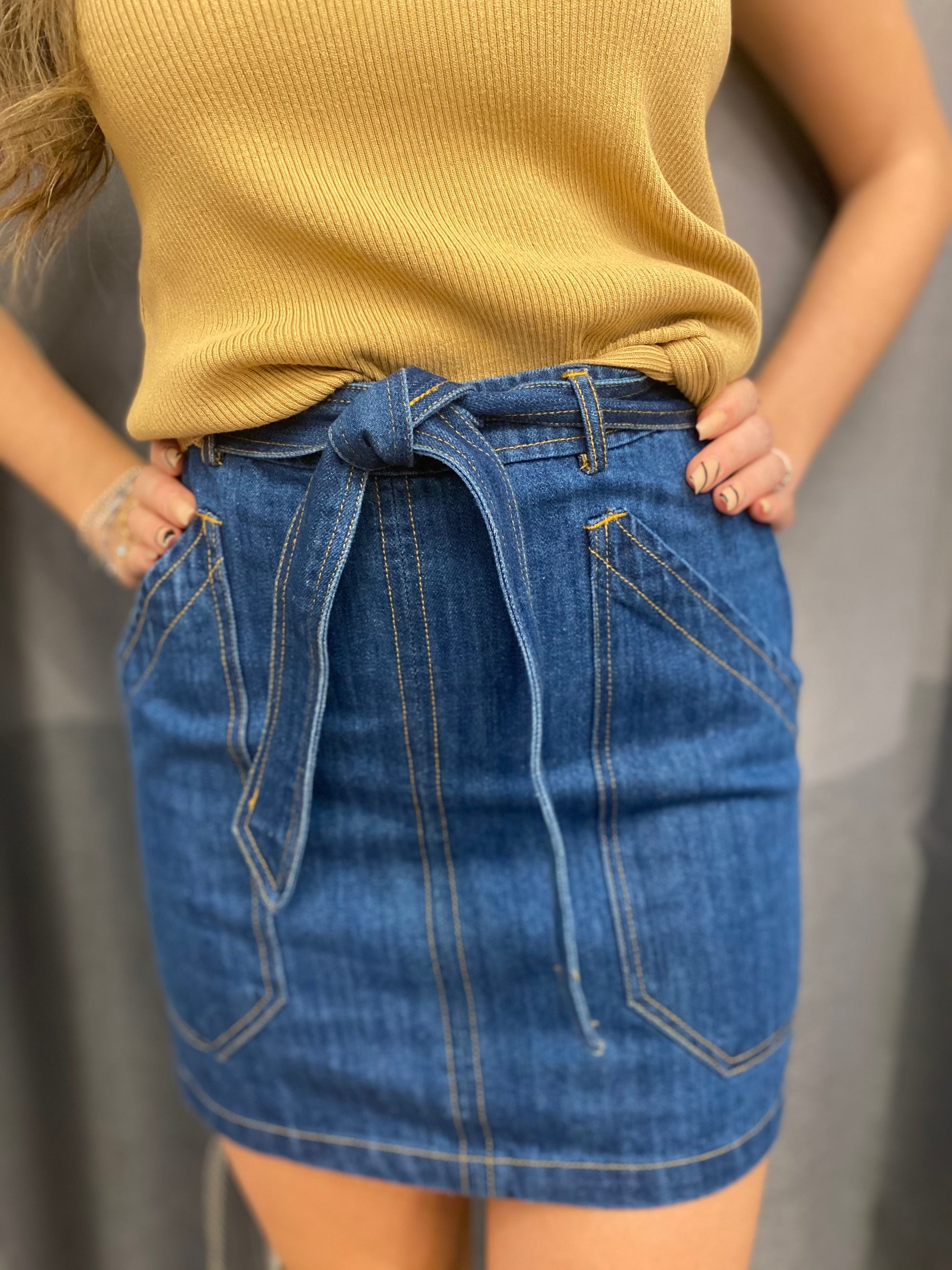 The Retro Denim Skirt