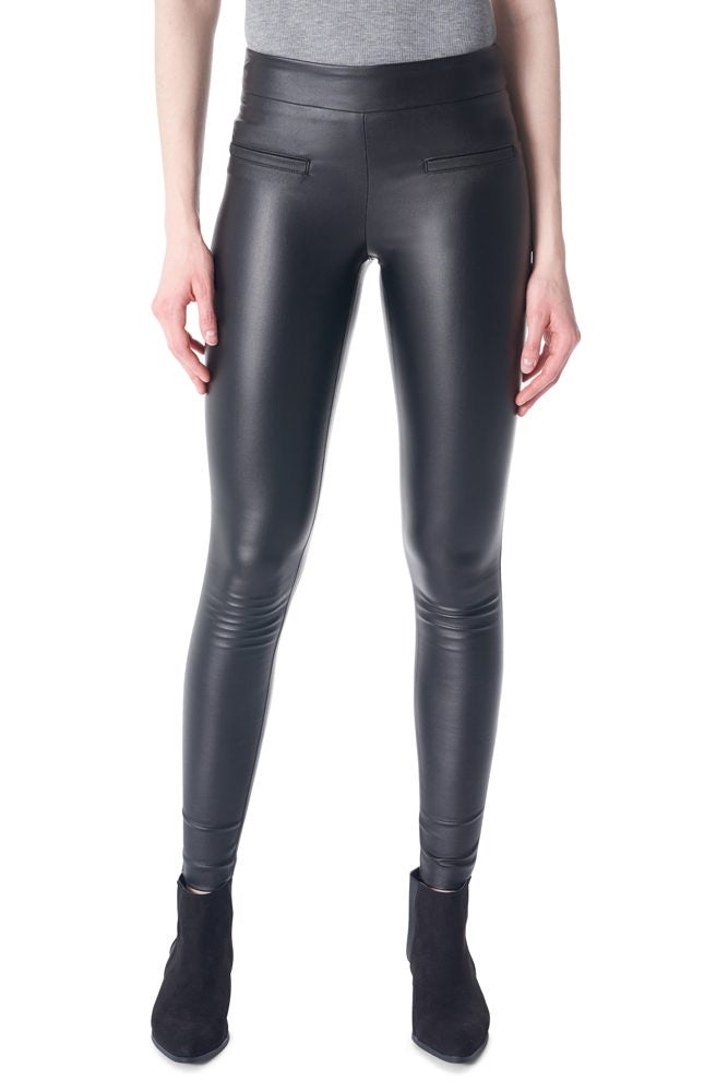 Mari waxed black pant