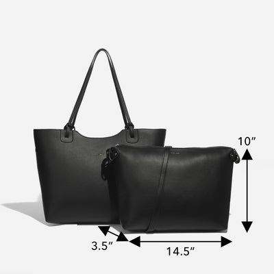 Heather black tote
