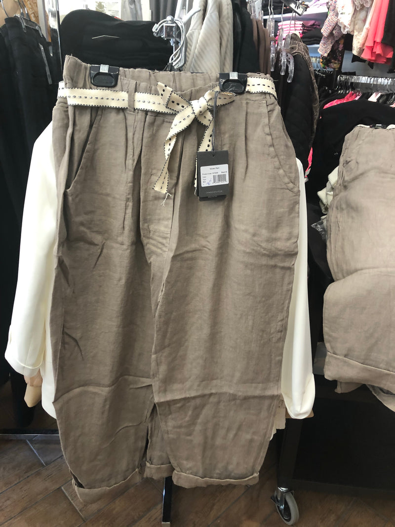 Taupe Woven Pant