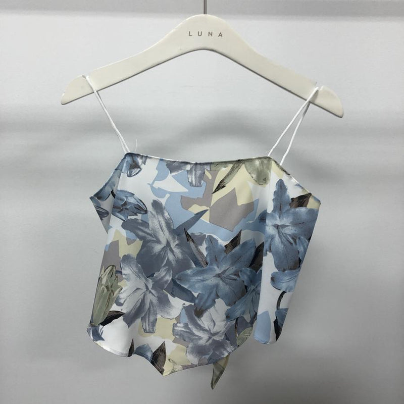 Jojo scarf crop top