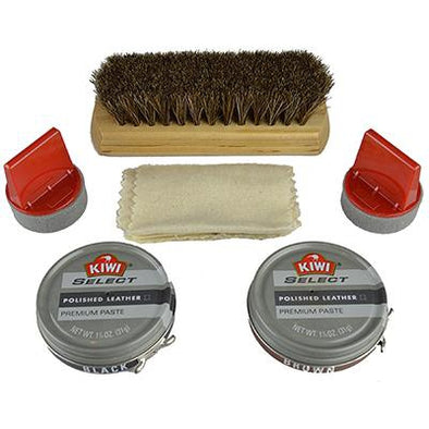 Kiwi Select Polished Leather Shoe Care Kit