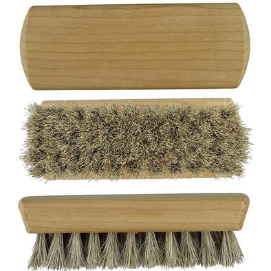 Mini Shoe Shine Brush 100% Horse Hair