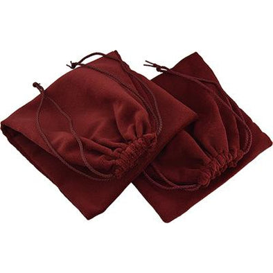 Genuine Velvet Burgundy Shoe Bags Pair