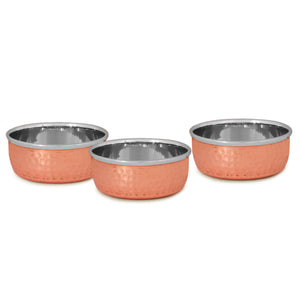 CROCKERY WALA & COMPANY Pure Copper and Steel Thali Dinner Set of 7 Pieces - Crockery Wala And Company