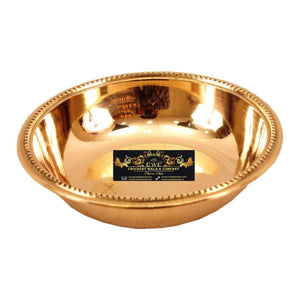 Crockery Wala & Company Brass Serving Bowl 100 ML - Serving Soup Dinnerware Tableware Home Hotel
