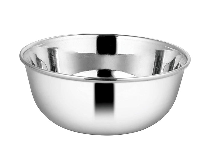 "Crockery Wala And Company Stainless Steel Bowl Katori With Laser Finish Food Grade Material Bowl 4"" Inch - 6 Pcs"
