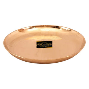 "Crockery Wala And Company Bronze Plate Thali For Dinner Serving Eating Designer Dinnerware Thali 5.25"" Inches"