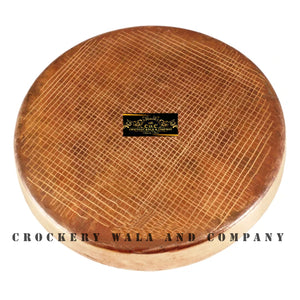 "Crockery Wala And Company Bronze Plate Thali For Dinner Serving Eating Designer Thali 11"" Inches"