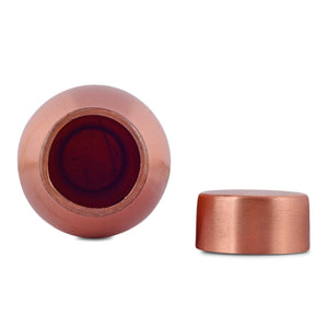 Crockery Wala And Company Pure Copper Water Bottle Lacquer Coated Copper Bottle For Travelling Leak Proof 1100 ML