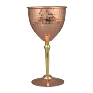 Crockery Wala And Company Copper Goblet Glass For Parties, Drinks, Mocktails Bar Serveware 350 ML | Set Of 1 Glass