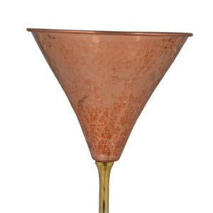 Crockery Wala And Company Copper Martini Glass Pure Hammered Brass Martini Glass With Brass Stand