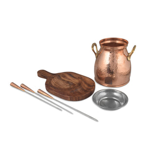 Copper Table Tandoor With Ethnic Look