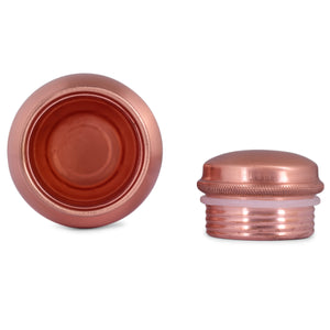CROCKERY WALA AND COMPANY Matte Finish Pure Copper Bottle , 1100 ml - Crockery Wala And Company